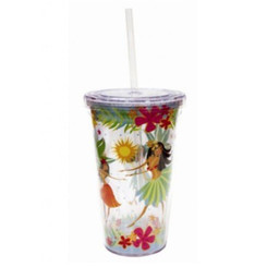 Island Hula Honeys Travel Tumbler With Straw 16 Oz
