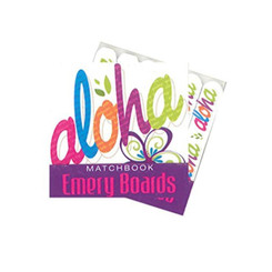 Hawaiian Matchbook Emery Boards 3 Pack Bold Aloha