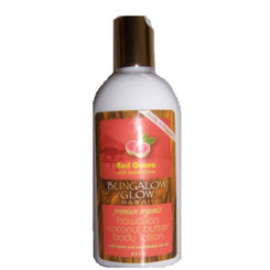 Hawaiian Bungalow Glow Premium Organic Coconut Butter Body Lotion 2 Bottles Red Guava & Citrus