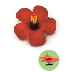 Hibiscus Clip Foam Flower Red
