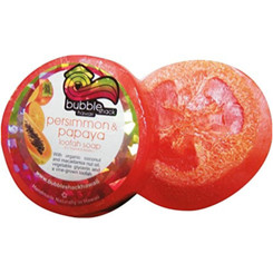 Hawaiian Bubble Shack Loofah Glycerin Soap Persimmon And Papaya 8 Bars