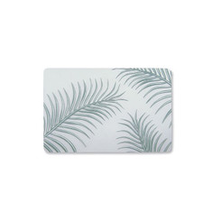 Palm Leaves Sage Translucent Placemat Set of 4