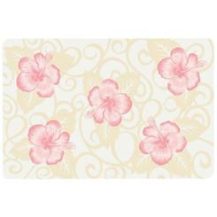 Translucent Placemat Pink Hibiscus Set Of 4