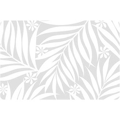 Translucent Placemat Pikake & Palm Leaves Set Of 4