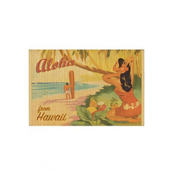 Hawaiian Style Bamboo Placemat Sunset Beach Set Of 4