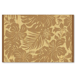 Hawaiian Style Bamboo Placemat Hibiscus Floral Coffee Set Of 4