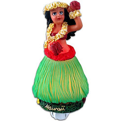 "Hawaii Hula Girl With Flower Night Light 5.25"" X 3.25"""