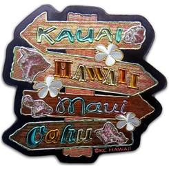 "Hawaii Sign Foil Magnet 2"" X 2"""
