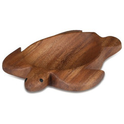 "Acacia Wood 1.5"" x 6"" x 8"" Honu Turtle Tray"