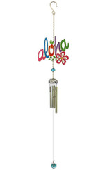 Hawaiian Style Stained Glass Wind Chime Bold Aloha