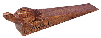 Acacia Wood Door Stop Hawaii Honu Turtle