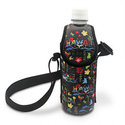 Hawaiiana Bottle Cooler With Strap Adventures Black