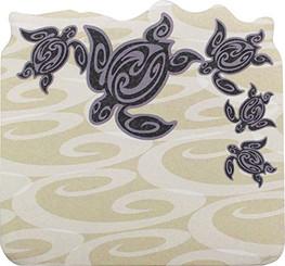 6 Pack Hawaiian Style Stick 'n Notes Posteez Die Cut Tribal Honu Turtle