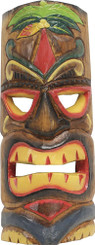 Hawaiian Style Wood Wall Decoration Tiki Mask Palm Tree