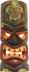 Hawaiian Style Wood Wall Decoration Tiki Mask Honu Turtle