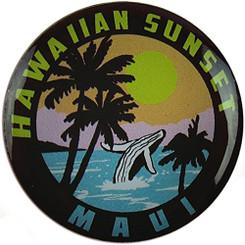 Hawaiian Lapel or Hat Pin Sunset Maui