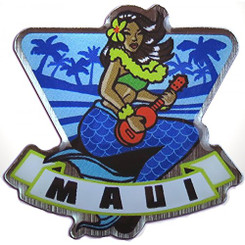 Hawaiian Lapel or Hat Pin Mermaid Maui