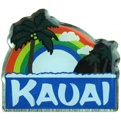Hawaiian Lapel or Hat Pin Rainbow Kauai