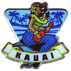 Hawaiian Lapel or Hat Pin Mermaid Kauai