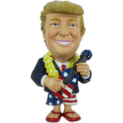 President Trump Magnet Playing Ukulele