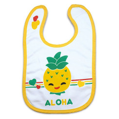 Keiki Kreations Baby Bib Island Yumi Friends Pineapple Pals