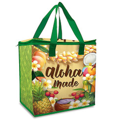 Hawaiian Insulated Non-Woven Shopping Tote Aloha Made