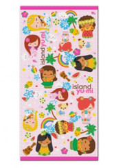 Island Yumi Pink Beach Towel