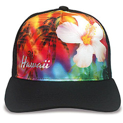 Island Caps Hawaiian Inspired Baseball Hats Rainbow Paradise