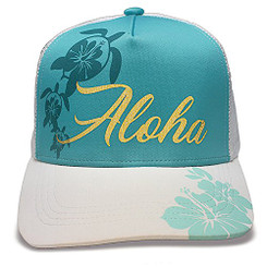 Island Caps Hawaiian Inspired Baseball Hats Hibiscus Honu
