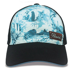 Island Caps Hawaiian Inspired Baseball Hats Vintage Hawaii Blue