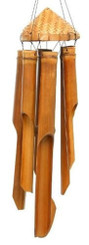 Islander Wind Chime Bamboo Hat 20""