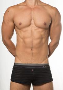 TOOT Underwear See-Through Stripe Trunk Black (KT15E386-Black)