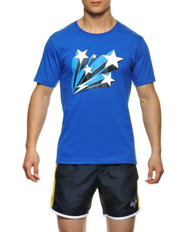 STUD Frankie Athletic Tee Heather Blue (RW632TS05)