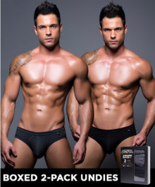 Andrew Christian Underwear Basix Tagless Briefs 2-Pack (90110-MULTI)