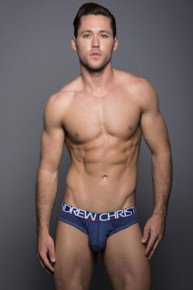 Andrew Christian Underwear Show-It Tagless Cotton Brief Heather Blue (90135-HGRBL)