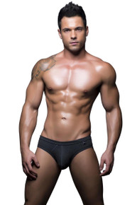 Andrew Christian Underwear Basix Tagless Comfort Brief Charcoal (90129-GRY)