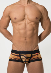 TOOT Underwear Tiger Print Nano Trunk Brown (CB01G352-Brown)
