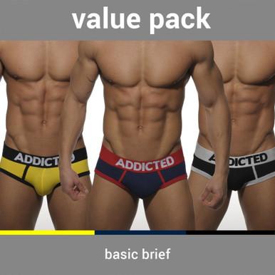 Addicted Underwear Basic Brief 3-Pack (AD001P)