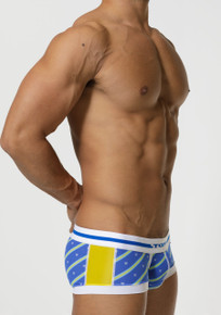 TOOT Underwear Regimental Stripe Nano Trunk Blue (NB05G356-Blue)