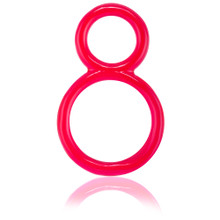 Screaming O Ofinity Double Erection Ring Red (OFY-110-RD)