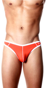 Groovin' Underwear Accent Thong Orange Front View