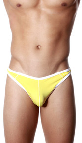 Groovin' Underwear Accent Thong Yellow Front View