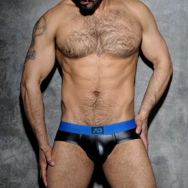 Addicted Underwear Fetish Rubber Brief Blue (ADF48-16)