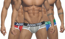 Addicted Underwear 3-Pack Basic Briefs (AD301P-3COL)