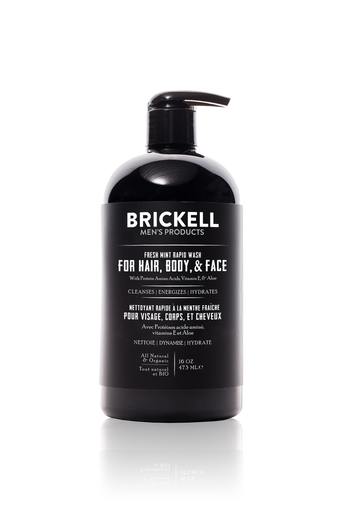 Brickell Men's Products All-in-One Wash - Fresh Mint (474ml)