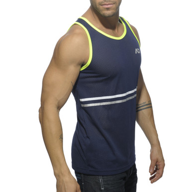 Addicted Platinum Detail Tank Top Navy (AD483-09)