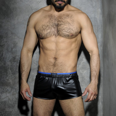 Addicted Underwear Fetish Rubber Shorts Royal Blue ADF50 (ADF50-16)