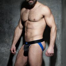 Addicted Underwear Fetish Camo Mesh Jock Royal Blue (ADF73-Royal Blue)