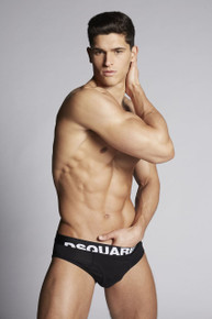 Dsquared Underwear Logo Brief Black (2-Pack) (DCX670030200)