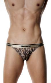 Groovin' Underwear Leopard Print Tanga Brief